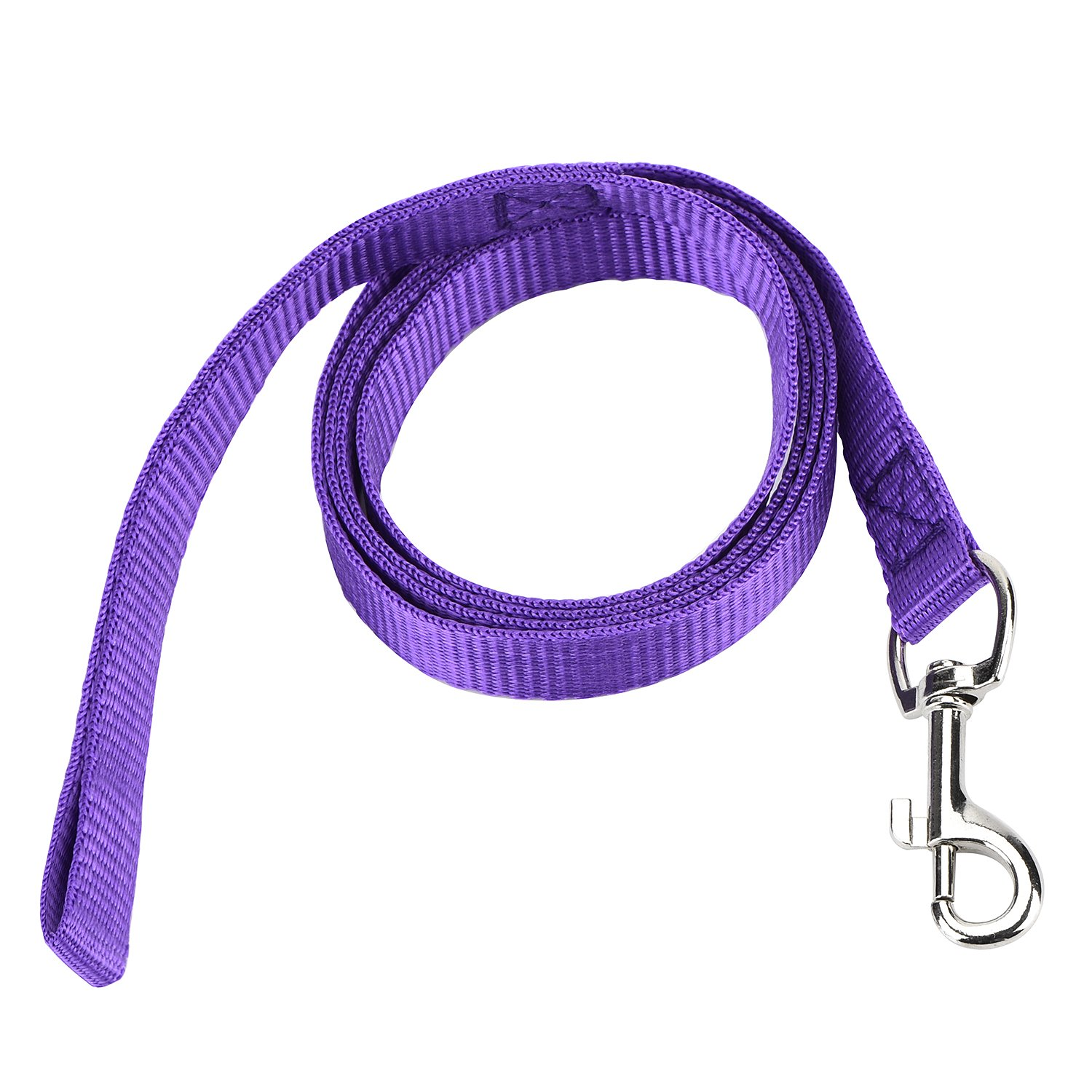 Dog Leash Purple Zubita Dog Leashes, Durable Nylon Dog Leads Training Leash Classic Solid color Traction Rope for Small and Medium Dog (Purple)