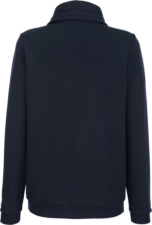 Laura Kent Damen Sweatshirt Marineblau Baumwolle Marineblau