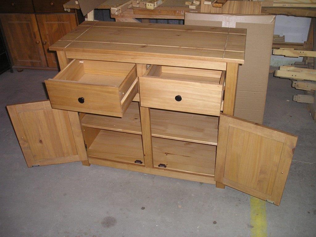 Mueble con 2 puertas y 2 cajones, Panama, madera, Cera antigua ...