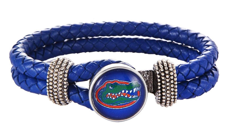 HPS Florida Gators Double Leather Band Bracelet with Charm