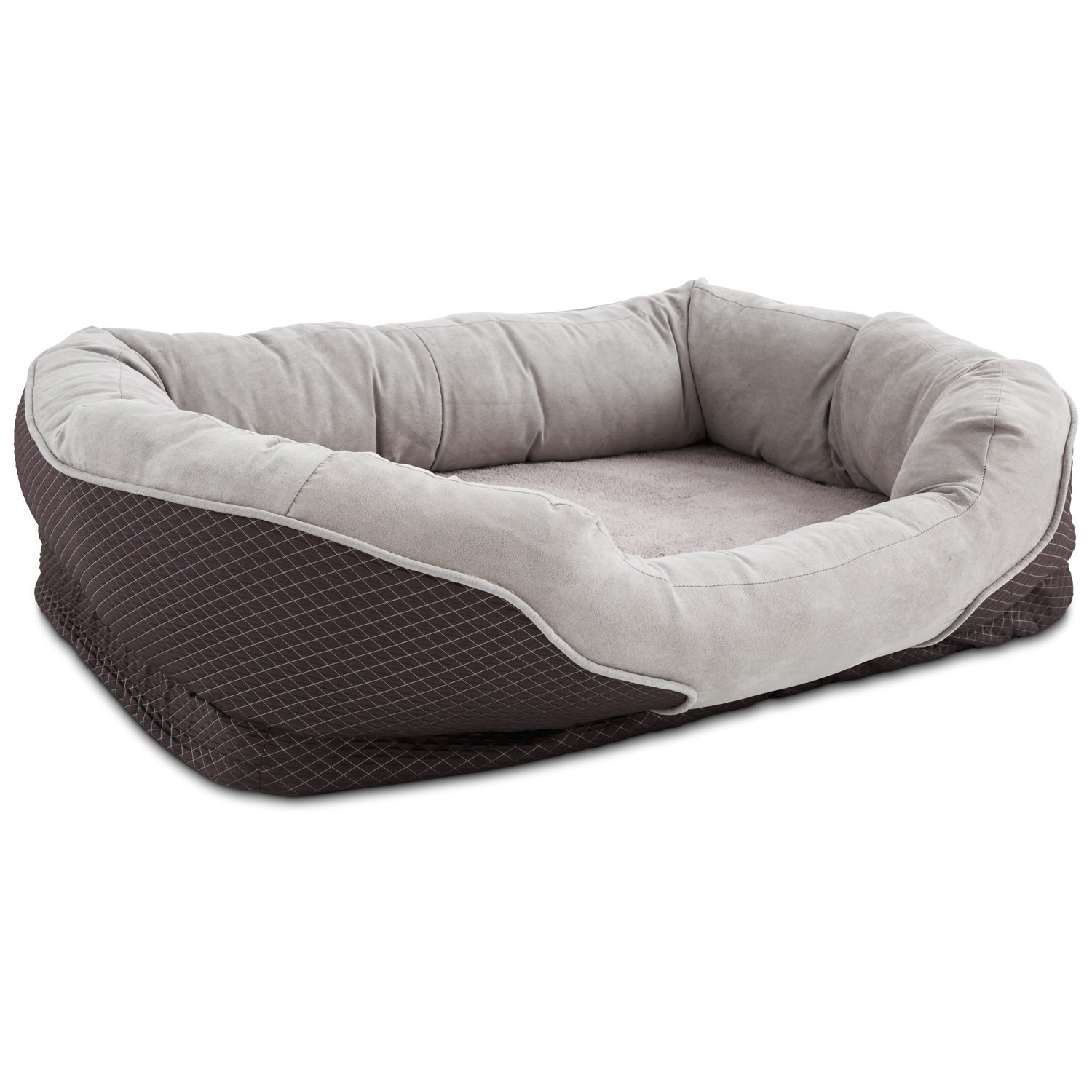 Petco Orthopedic Peaceful Nester Gray Dog Bed, 40 L X 30 W X 10 H, Large