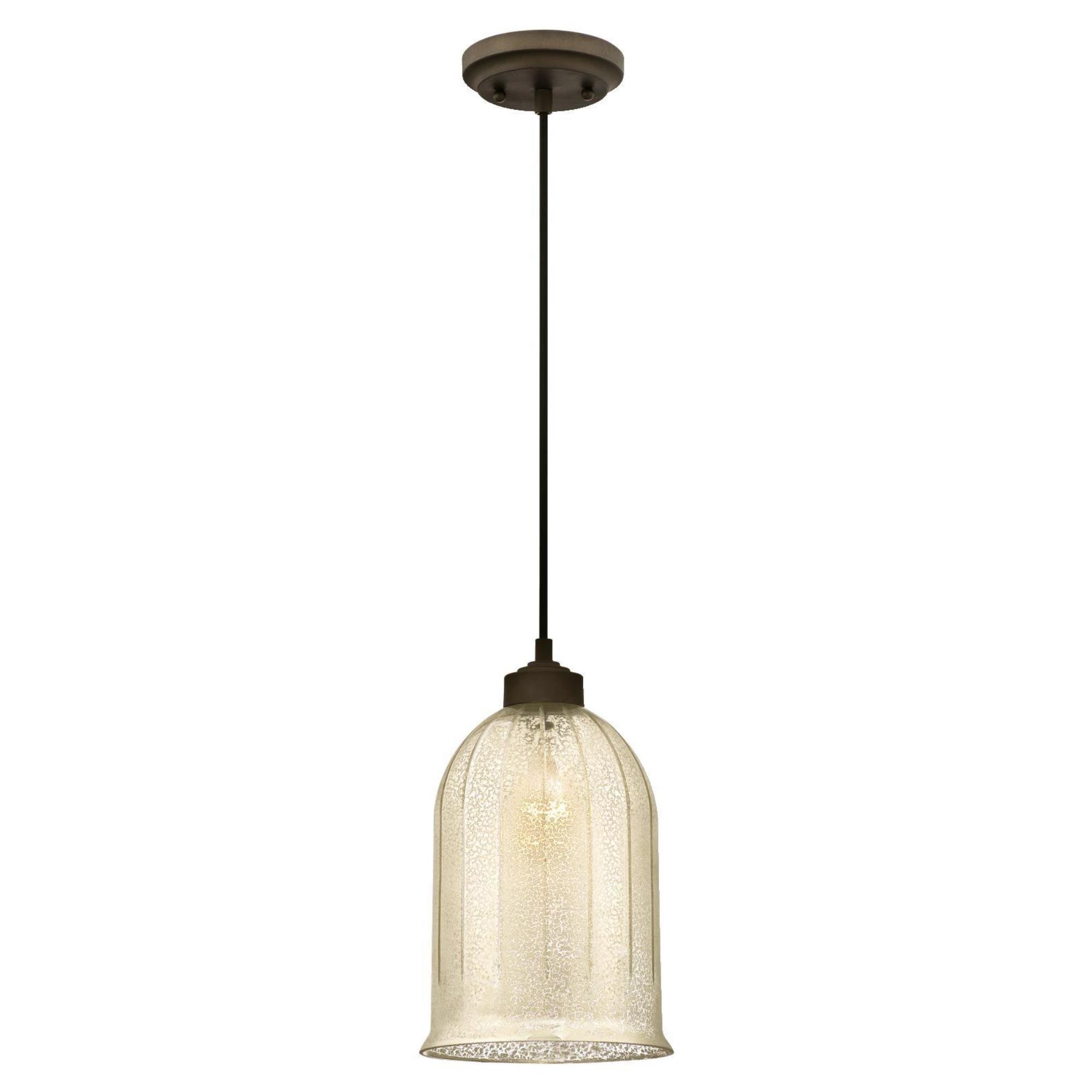 Westinghouse 6328600 One-Light Indoor Mini Pendant, Oil Rubbed Bronze Finish with Antique Mirror Glass