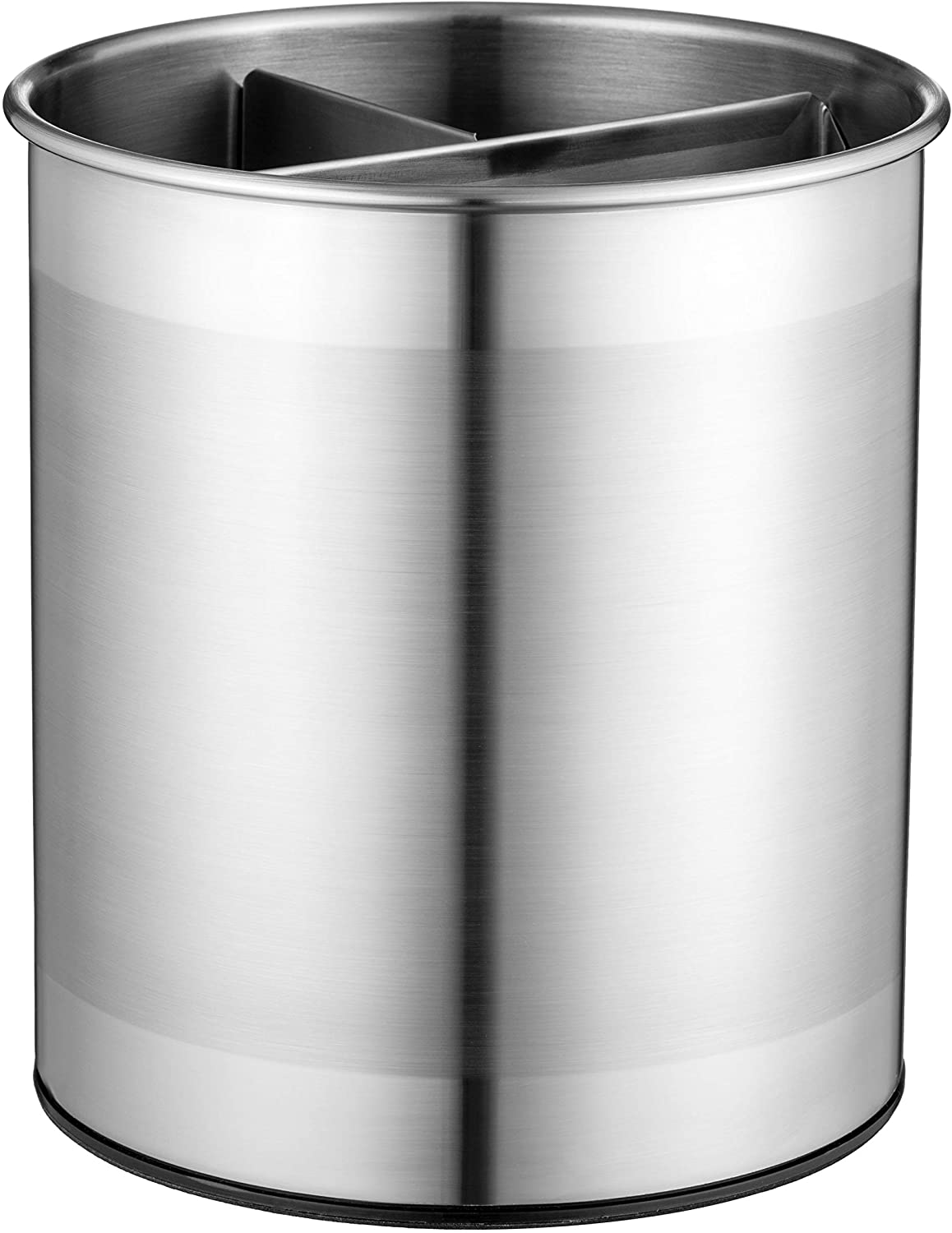 Extra-Large Stainless Steel Kitchen Utensil Holder - 360° Rotating Utensil Caddy - Weighted Base for Stability - Utensil Crock With Removable Divider for Easy Cleaning - Countertop Utensil Organizer.: Kitchen & Dining