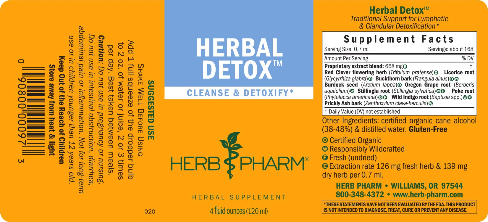Herb Pharm Liquid Herbal Detox Formula for Cleansing and Detoxification - 4 Ounce by Herb Pharm (Image #2)