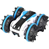 Tobeape Waterproof RC Car, 2.4Ghz 4WD Stunt Car Remote Control Amphibious Off Road Electric Race Cars with 2 Sides Tank…