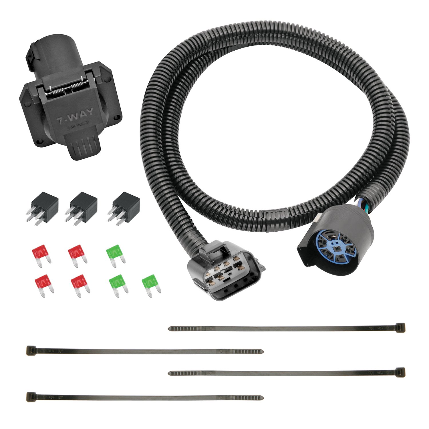 amazon com tekonsha 118271 7 way tow harness wiring package, 1 packamazon com tekonsha 118271 7 way tow harness wiring package, 1 pack automotive