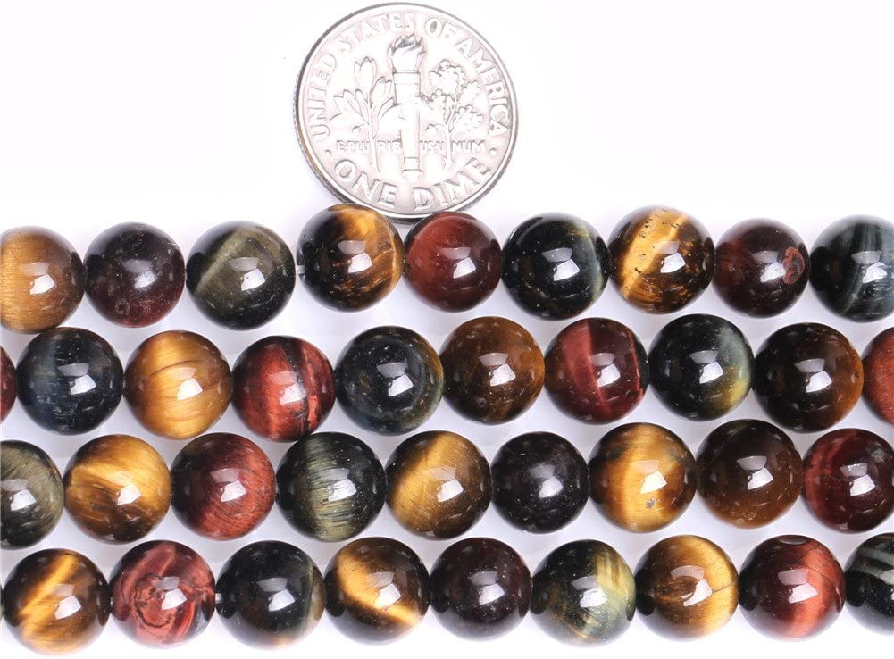 GEM-Inside Natural 3mm Yellow Tiger Eye Round Gemstone Semi Precious Seed Loose Beads for Jewellery Making 15
