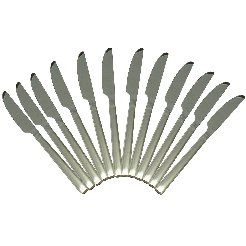 Argon Tableware Tondo Stainless Steel 18/0 Dinner Knives - Set of 12