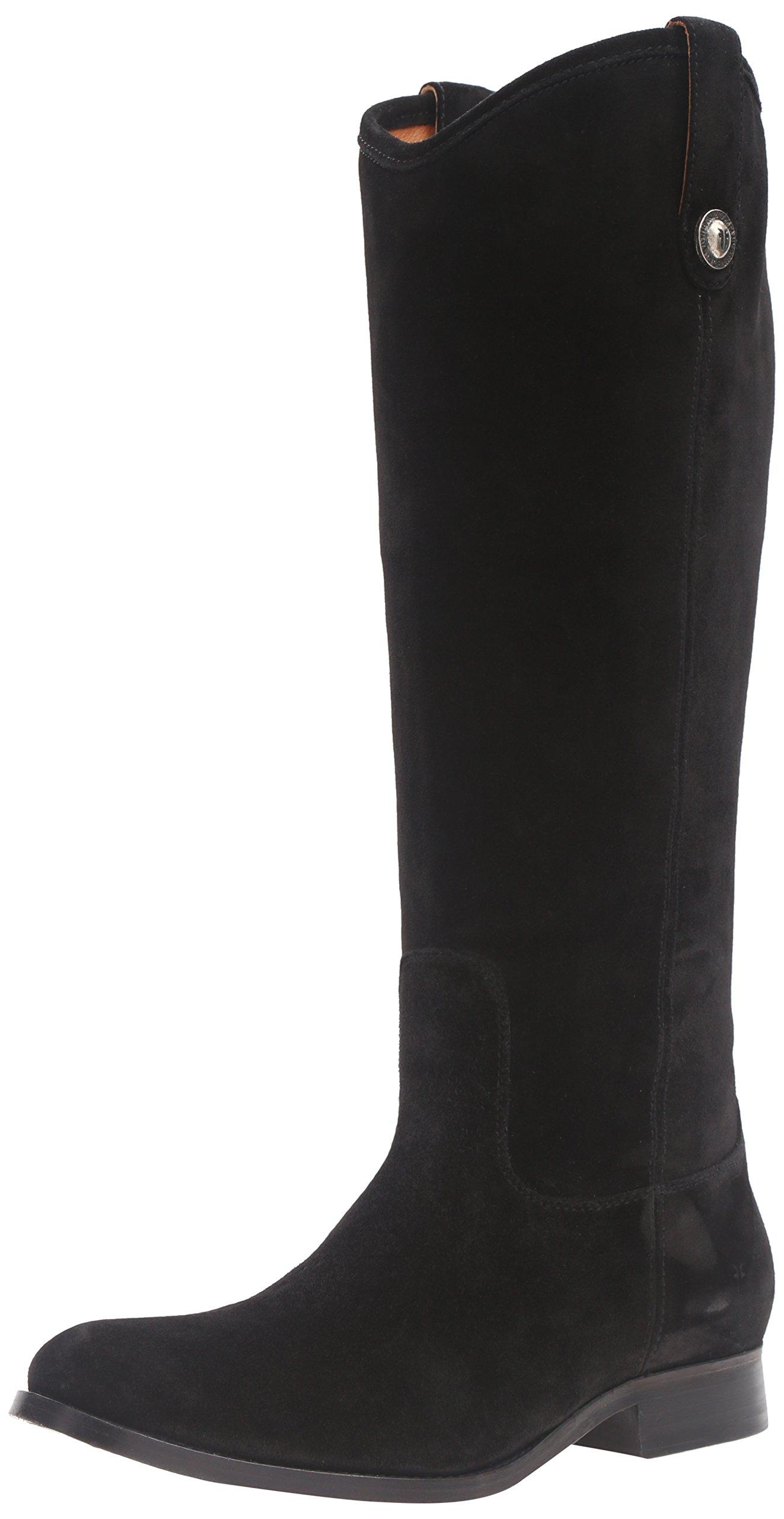 FRYE Women's Melissa Button Riding Boot, Black-77173, 9 M US