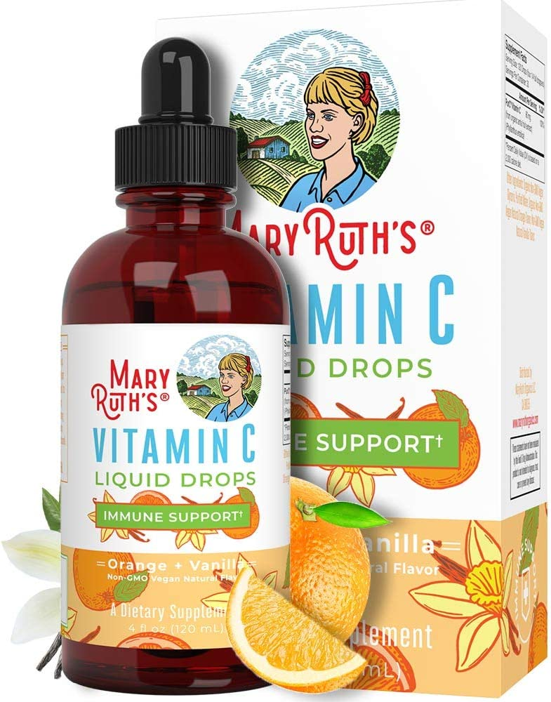 Organic Vitamin C Drops for Adults Kids Baby Infants by MaryRuth's | Plant Based Liquid Immune VIT C Supplement | Organic Amla Fruit | 4 oz