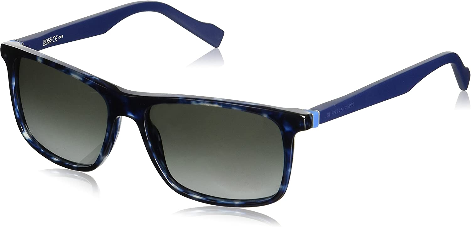BOSS Orange BO 0174/S PT JIY Gafas de Sol, Azul (Blueehvn Bluette/Grey Sf), 55 Unisex-Adulto