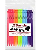 Chicken Hill 50 ZBand Numbered Poultry Leg Bands Fluorescent ~ Fits Sizes 6 to 14