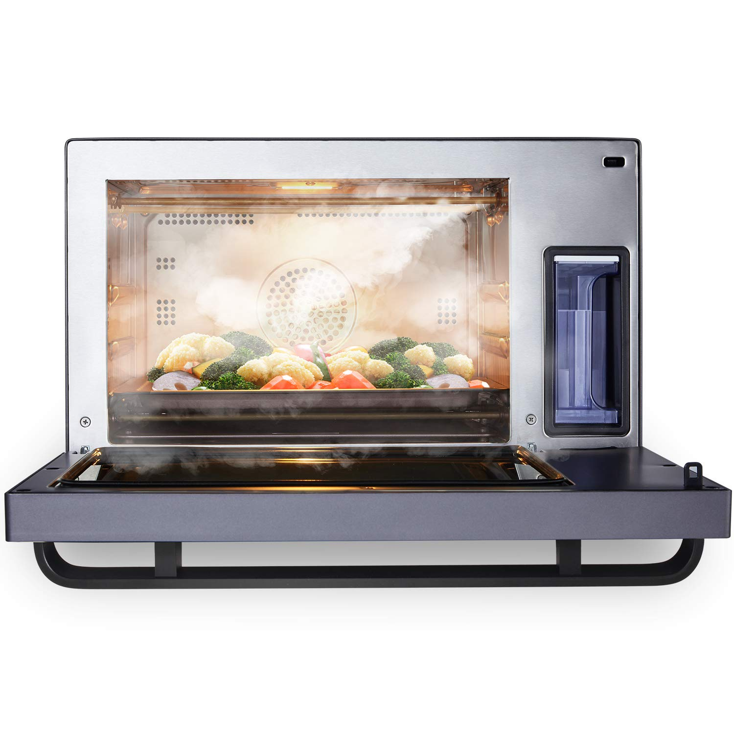 AUG Convection Steam Grill Oven, 0.9 Cu. Ft. Smart Household Countertop Combi Steamer with 8 Cooking Modes, Matte Black Stainless Steel by AUG (Image #3)