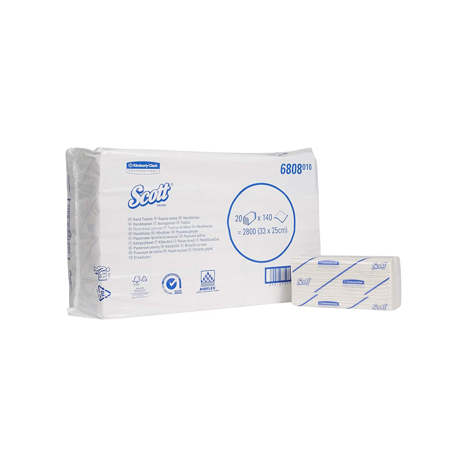 15 Packs x 320 Sheets Scott InterFolded Hand Towels White 6775 1 Ply