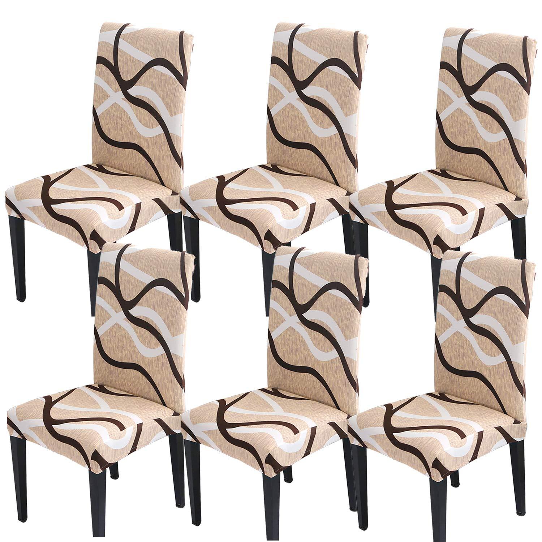 STARUBY Silla con Respaldo Funda para Asientos Forros Funda para sillas de protecci/ón el/ástico Lavable Fundas de Cobertura Silla para Comedor Restaurante Hotel
