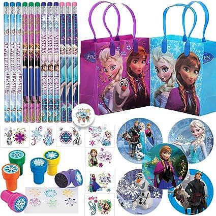Amazon.com: Deluxe Frozen - Bolsas de regalo de cumpleaños ...