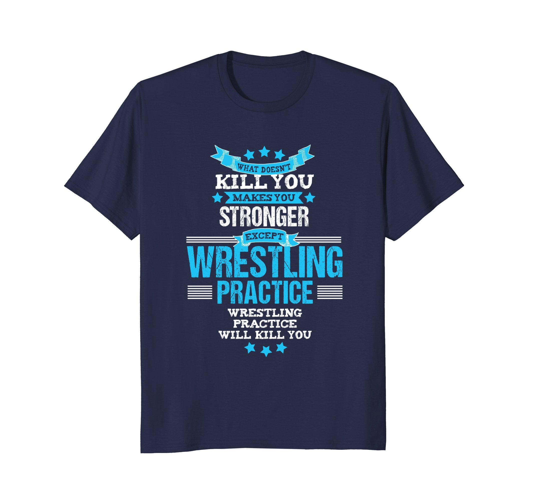 Mens Funny Wrestling Coach Tshirt Team Wrestler Gift 2XL Navy by Funny Sports Coach Tees