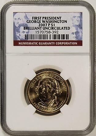 2007-P PRESIDENT GEORGE WASHINGTON $1 PCGS MS65