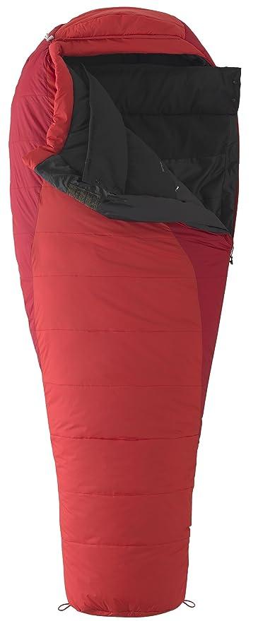 Marmot Wave IV Mens sintético largo saco de dormir - LZ, Matador/Fire