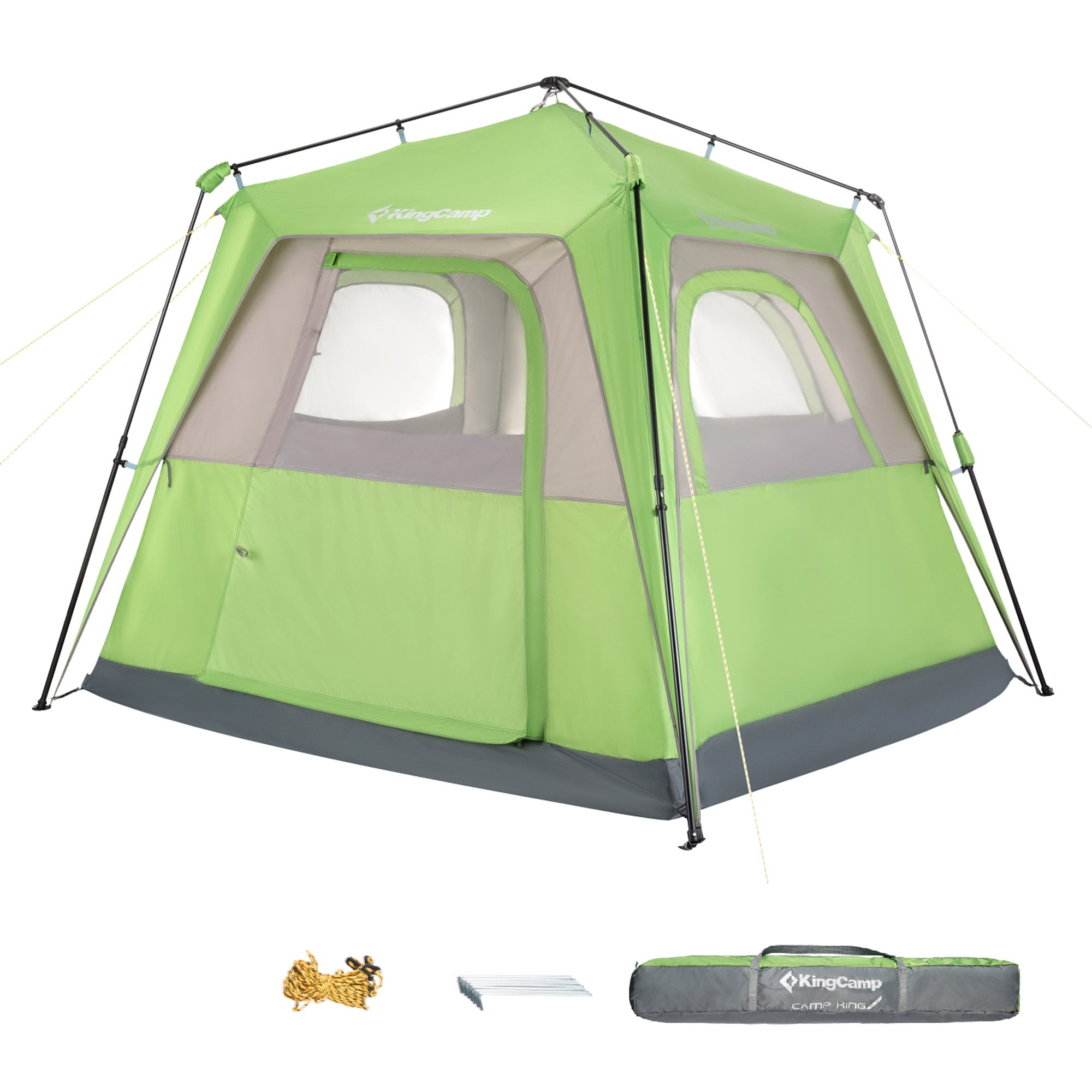 KingCamp Easy Up Double Layer Multi Purpose 3-4 Person UPF 50+ Breathable Waterproof Canopy Camping Tent