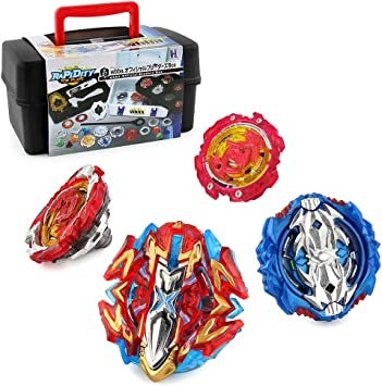 OBEST Peonzas Burst 4X Attack Spinning Tops 4D Set con Launcher y ...
