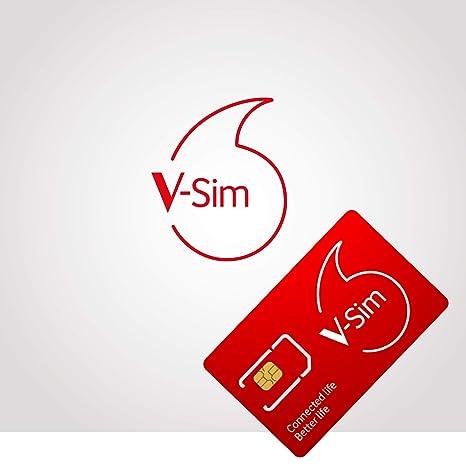 Sim Karte Aktivieren Vodafone.Vodafone V Sim Smarte Sim Karte Ideal Fur Gps Tracker Lte Sicherheitskameras Wildkameras Usw