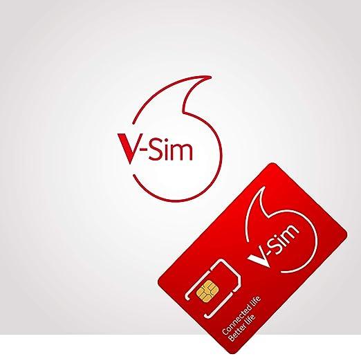 Vodafone Sim Karte Aktivieren.Vodafone V Sim Smarte Sim Karte Ideal Für Gps Tracker Lte Sicherheitskameras Wildkameras Usw