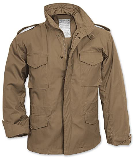 8ce254ef7c10 Surplus Men s M65 Jacket Beige  Amazon.co.uk  Clothing