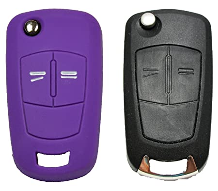Rojo Morado 3 Botones Llave Carcasa in Silicona para Coche Audi A3 S3 A4 S4 RS4 A6 S6 RS6 Q7 TT TTS R8 Cover de llave Car Key Case E-Mandala Funda llave Audi