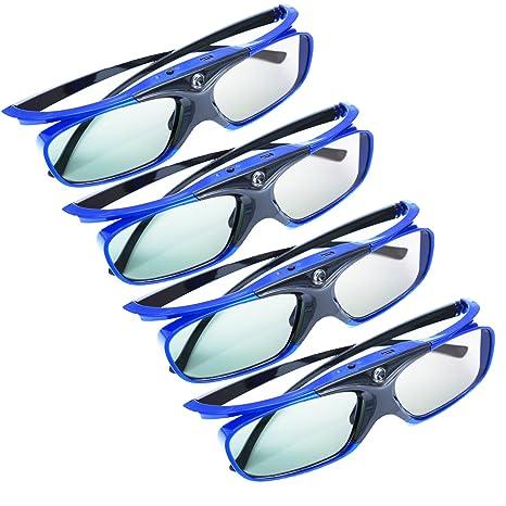 4 x 3D Gafas Apeman DLP 3D Gafas Glasses Series RE de Chargeable ...