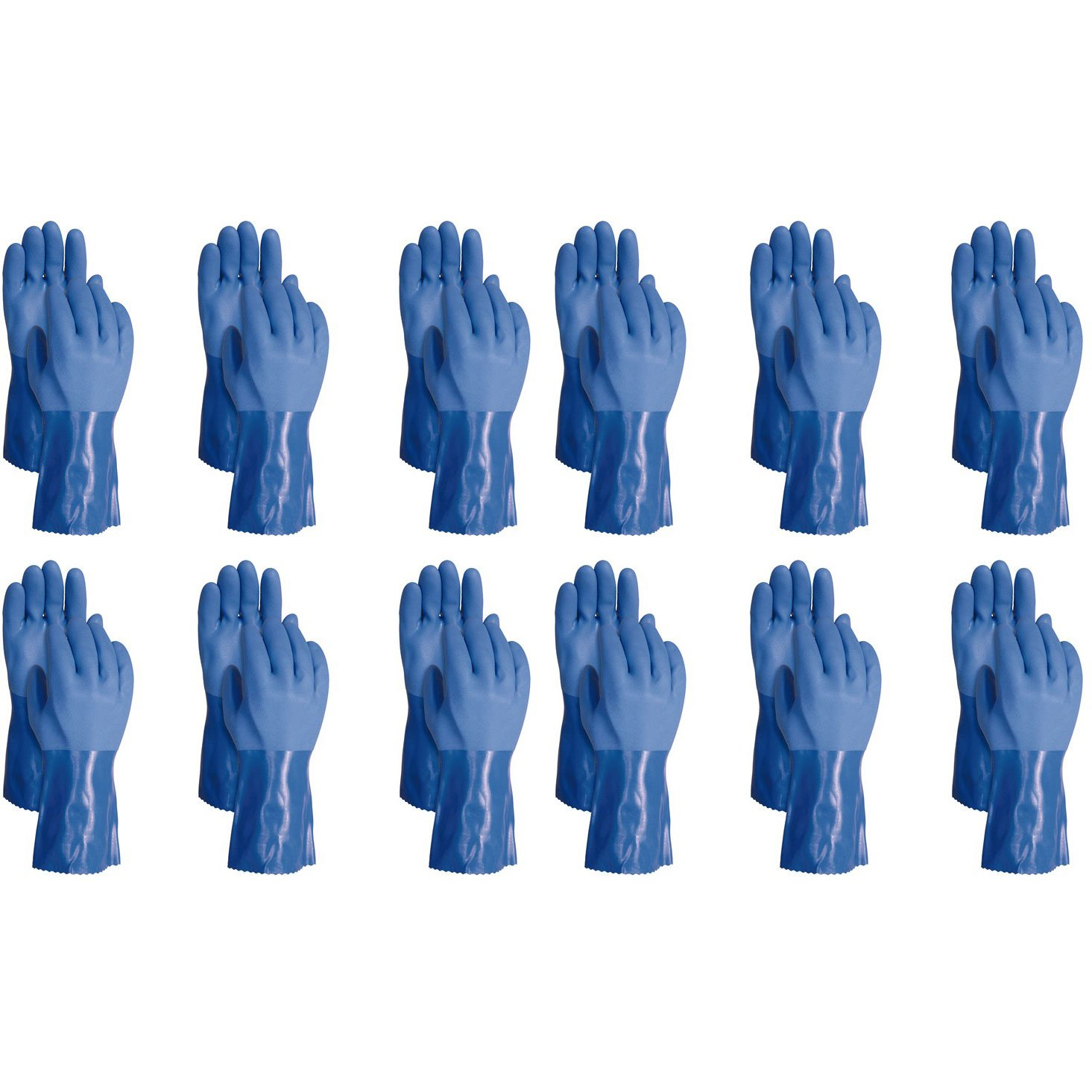 ATLAS 660 Vinylove Triple Dipped X-Large XL Textured PVC Work Gloves, 72-Pairs by Atlas (Image #1)