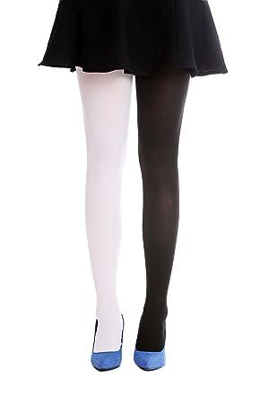 28a39057563c2 DRESS ME UP - WZ-013WR Pantyhose Tights Lady Costume Halloween elastic half  black half