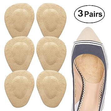 b81b7d262a2e Beautulip Metatarsal Pad Ball of Foot Cushion Adhesive Forefoot Pad Massage  Shoe Insert - Absorb Sweat