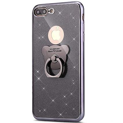coque iphone 8 plus avec bague noir