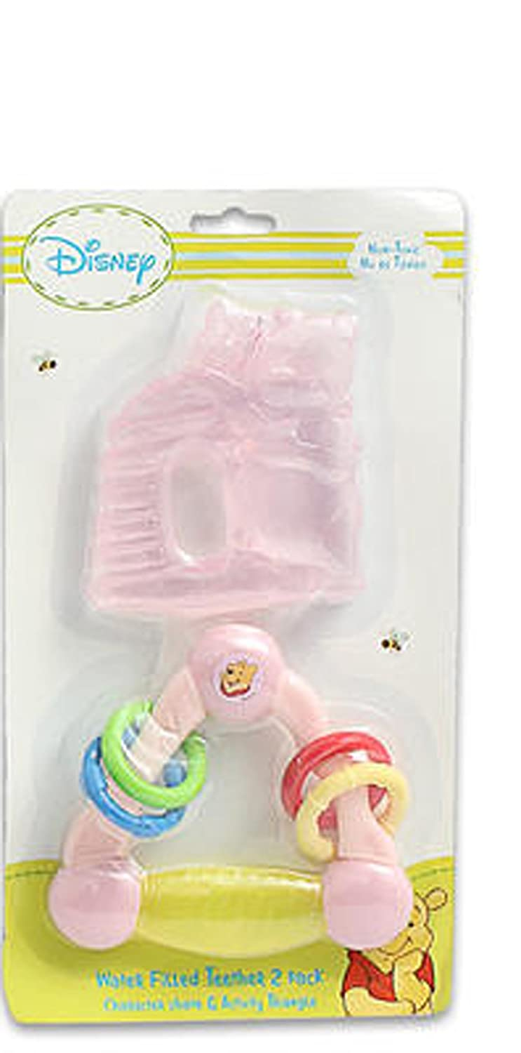Disney Winnie The Pooh Triangle and HoneyPot Water Filled Teether Ring (Pink) by Disney   B00TY08Y7S