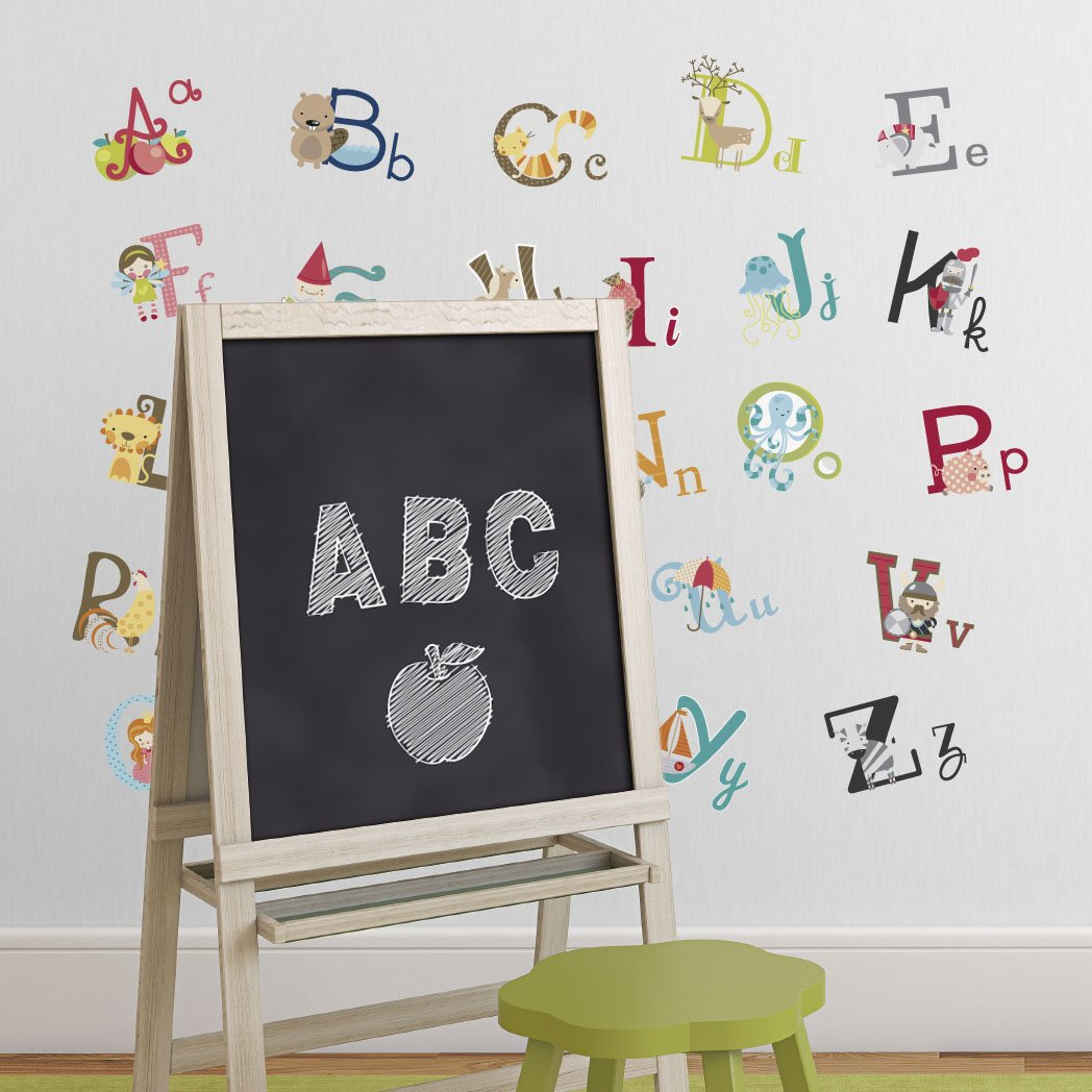 Kids room wall decor stickers - Big Graphic Alphabet Letters Kids Room Nursery Wall Decal Stickers Amazon Com