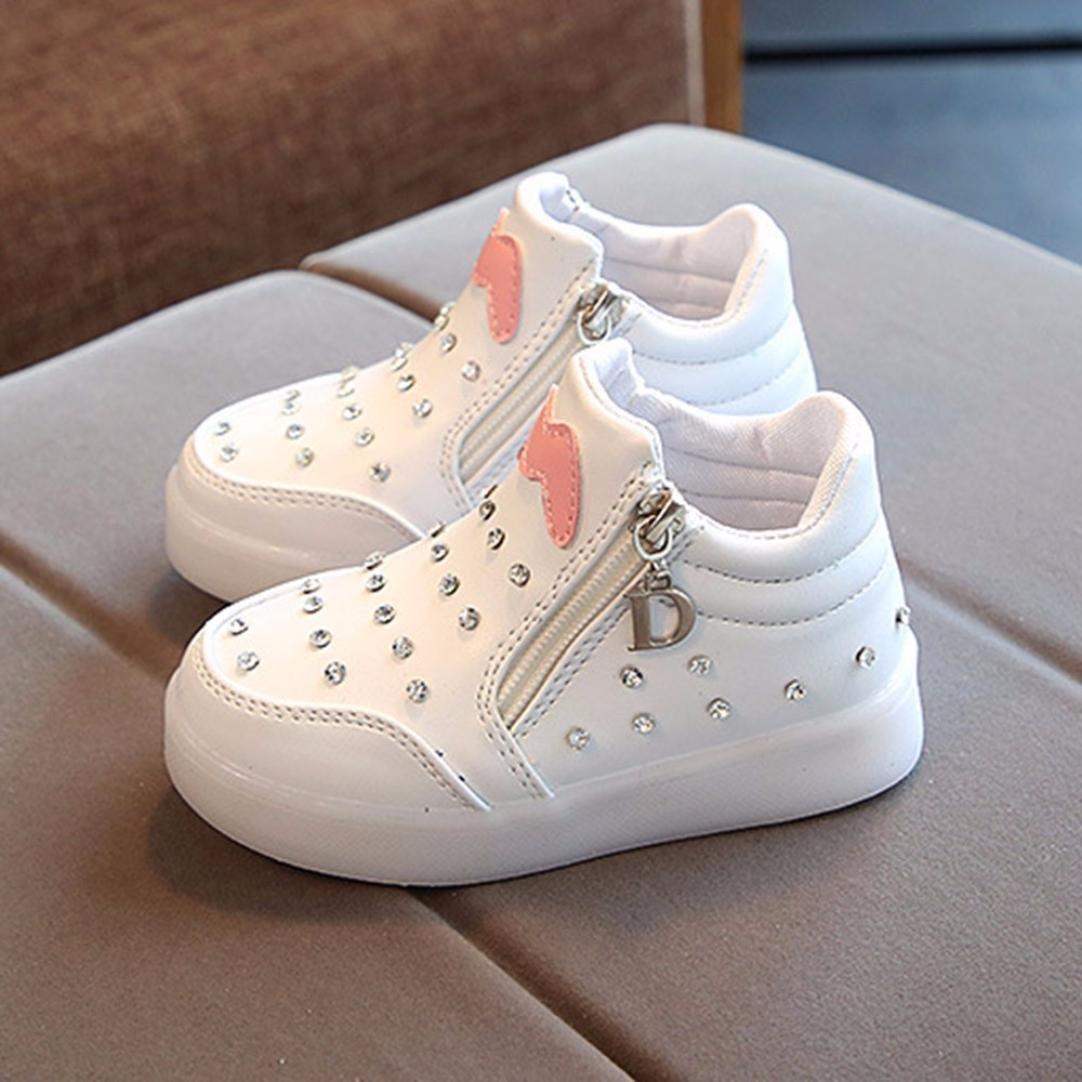 new concept bd6d3 18ee9 LED Scarpe Low-Top Lampeggiante Luminosi Sneakers Sportivet-Bambino,Superstar  Foundation,Scarpe da Ginnastica Zip in Cristallo -Bambine Ragazze- Casuale  ...