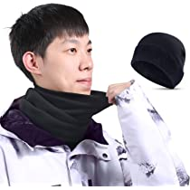 20a55dd0d12 ... SUNMECI Neck Gaiter Warmer Windproof Mask Dust - Free UV Face Mask Black