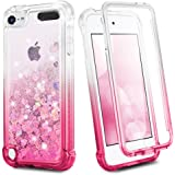iPod Touch 7 6 5 Case, Ruky iPod Touch 7th 6th 5th Generation Full Body Glitter Case for Girls with Built in Screen Protector