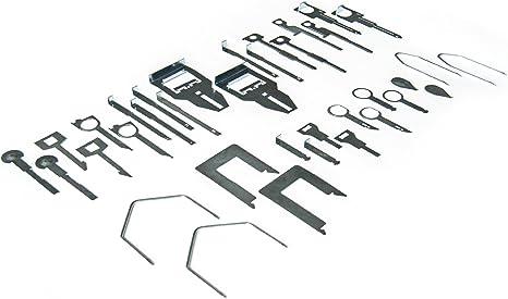 Autoradio Ausbauwerkzeug Entriegelung Schlüssel Sortiment 36 Teiliges Baumarkt