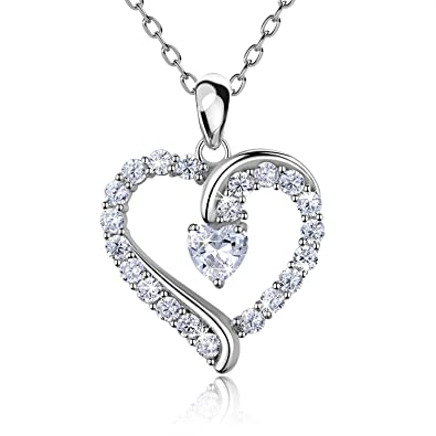 regarder 0b7a9 eeba2 Collier coeur en argent sterling 925 - Billie Bijoux