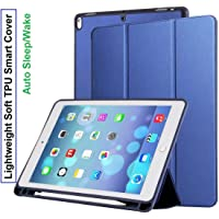 Oaky Case Cover Compatible with iPad Air 3rd Generation 10.5 inch 2019 with Pencil Holder Cover - Blue