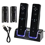 Amazon Price History for:Insten Dual Charging Station w/ 2 Rechargeable Batteries & LED Light for Wii / Wii U Remote Control, Black - (Original Wii Controllers Not Included) Retail Packaging