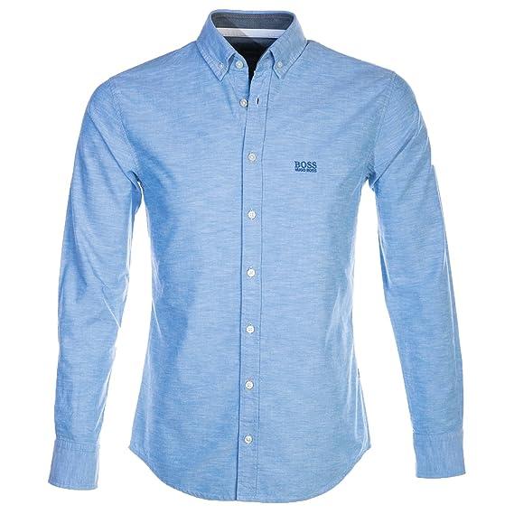 Hugo Boss Men Smart Shirt Epreppy 1 50382114 Size M Blue