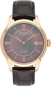 تيسوت ساعة رسمية للرجال انالوج بعقارب جلد - T41.6.413.63