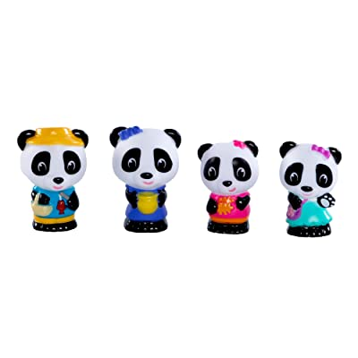 Fat Brain Toys Timber Tots Panda Family Set of 4 Dolls & Dollhouses for Ages 2 to 8: Toys & Games