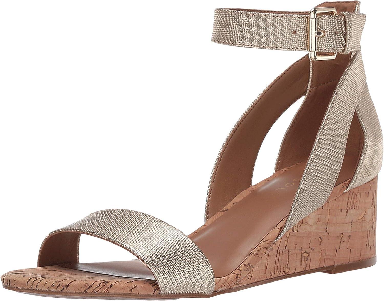 Aerosoles Women's Wedge Sandal, Gold Metallic, 7 M