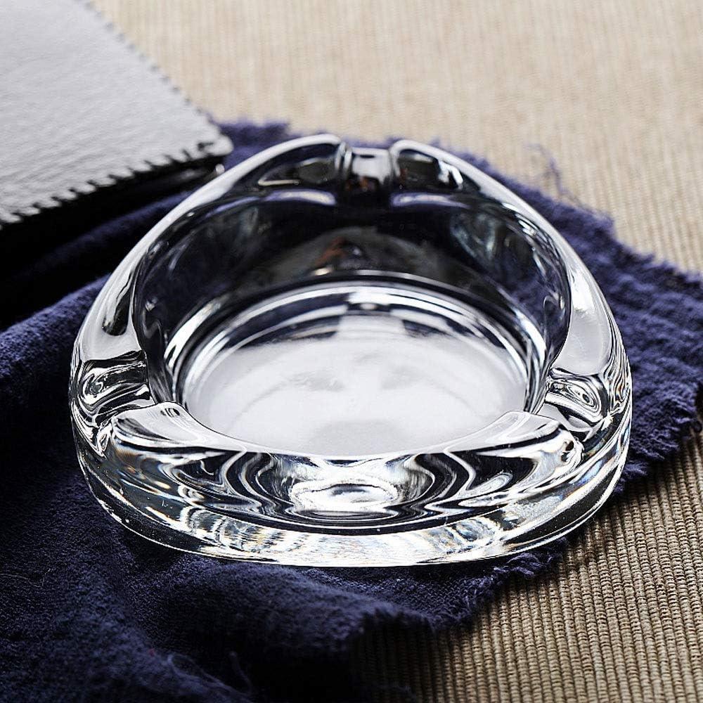 灰皿, 現代ガラス灰皿、クリアクリスタルの灰皿、シンプルなリビングルーム、インテリア、無鉛ガラス