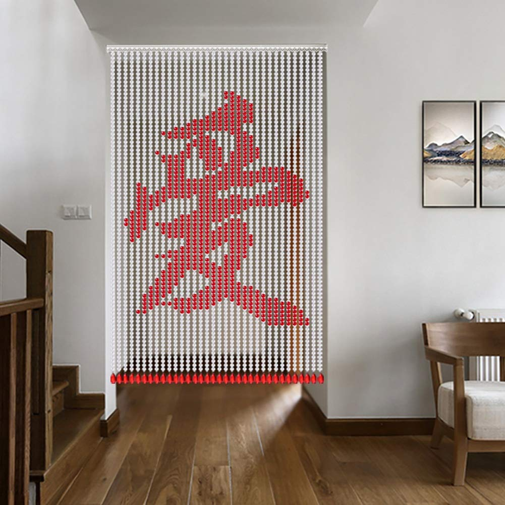 GuoWei 家族 愛 祝福 ビーズカーテン 結晶 ガラス ビーズ ドア カーテン デコレーション ひも 間仕切り パネル カスタマイズ可能 (色 : A, サイズ さいず : 40 strings-80x180cm) 40 strings-80x180cm A B07RQSGD1N