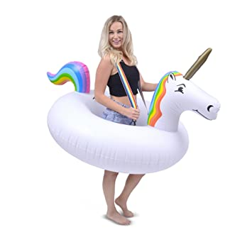 Amazon.com  GoFloats Unicorn Costume Tube - Giant Inflatable Unicorn with Suspenders - Must Have for Costume Parties - New for 2018  Sports u0026 Outdoors  sc 1 st  Amazon.com & Amazon.com : GoFloats Unicorn Costume Tube - Giant Inflatable ...